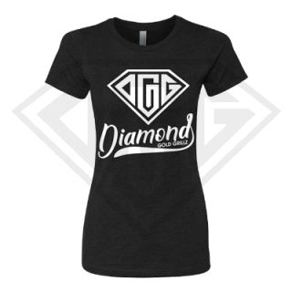 Ladies Black Shirt White Logo