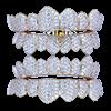 VS White Pave Diamond Top Bottom permanent cut yellow gold grillz wm